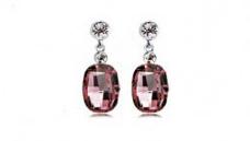 E184 Rose crystal earring