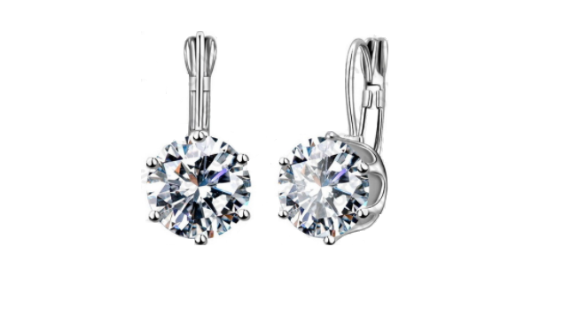 E438 Small Crystal Drop Earring