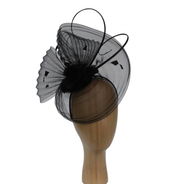 Flo Black Fascinator