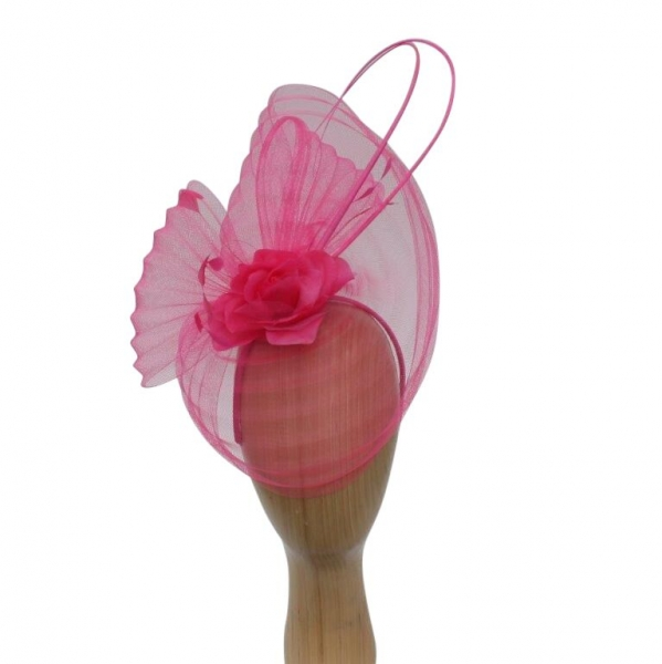 Flo Cerise Fascinator