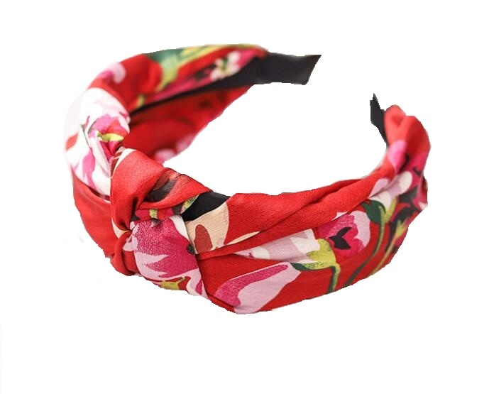 Floral Hair Band Red