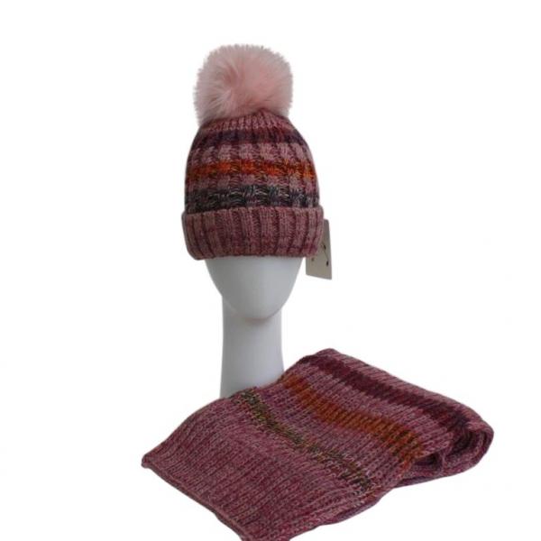 Pink Hat & Scarf Set