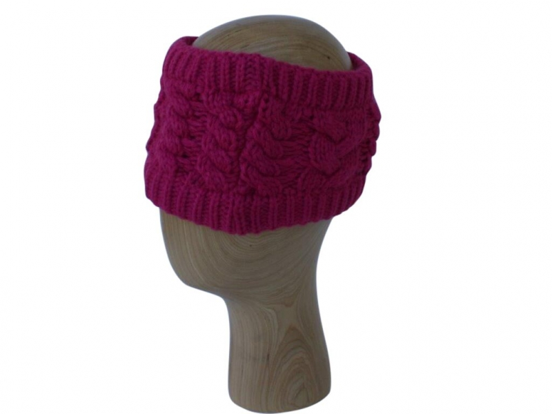 HB001 Fuchsia Wool Headband