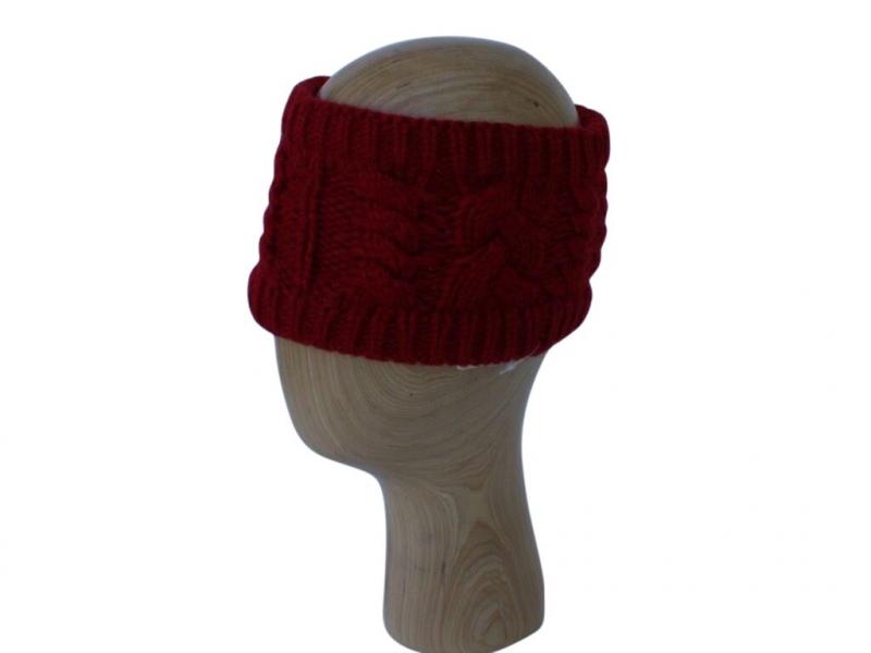 HB001 Red Wool Headband