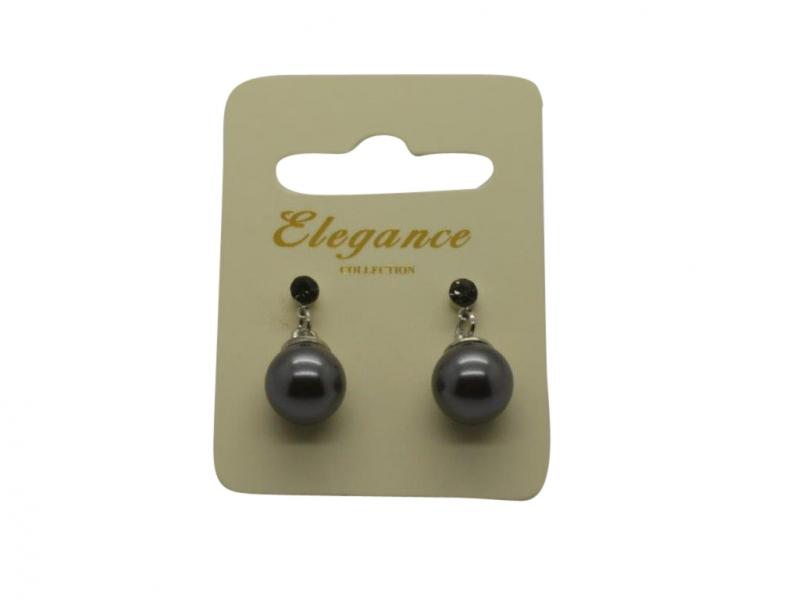 E064gy Pearl & crystal earring