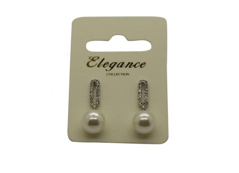 E234s Crystal & pearl earring