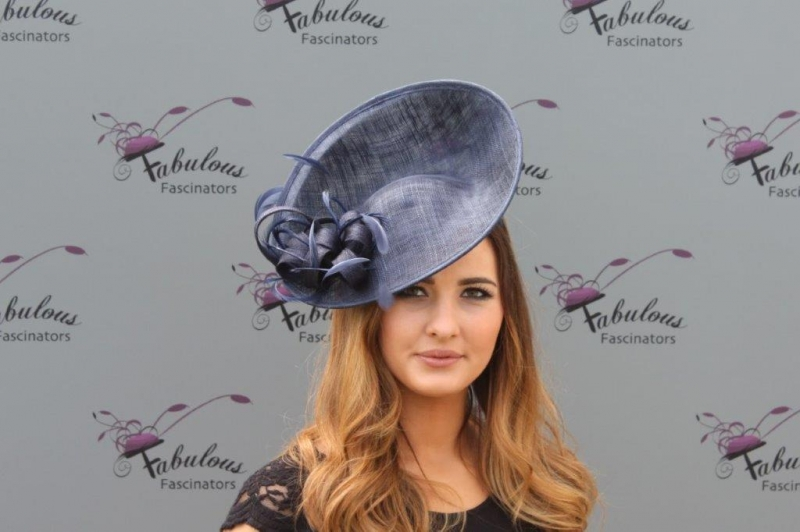 Jane navy fascinator