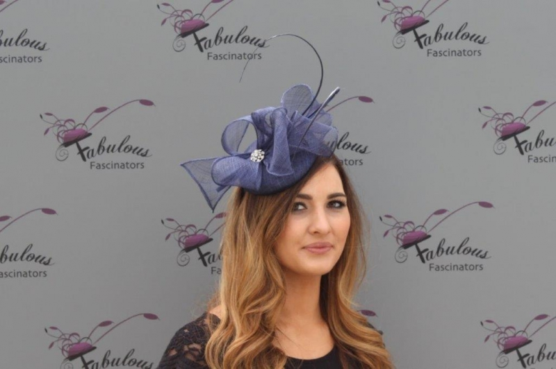 Lisa Navy fascinator