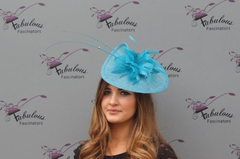 Kathy blue fascinator