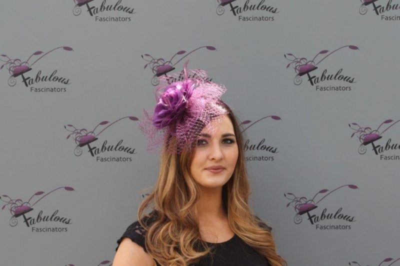 Lilly Purple fascinator