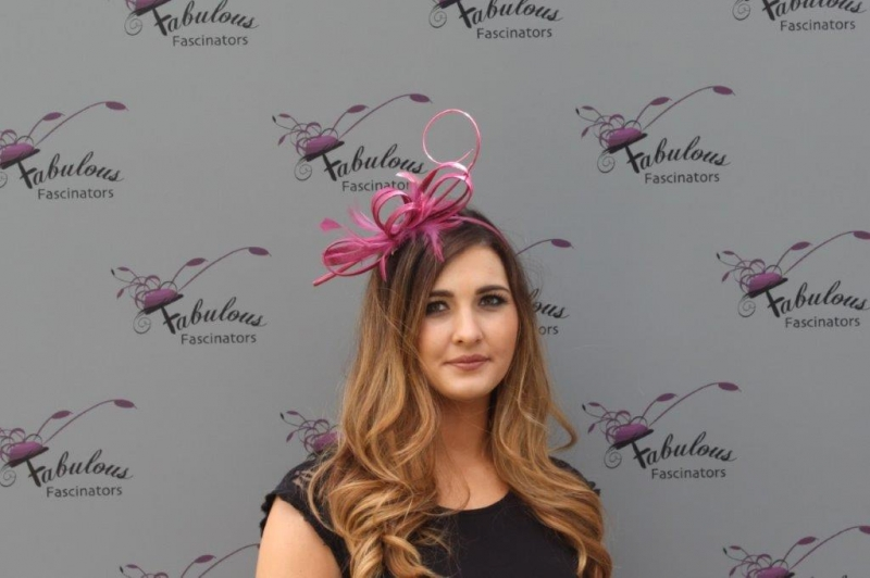 Alice Grape fascinator