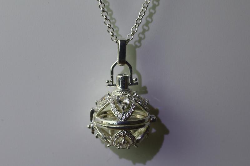 Ac-6 Long silver pendant necklace 80cm