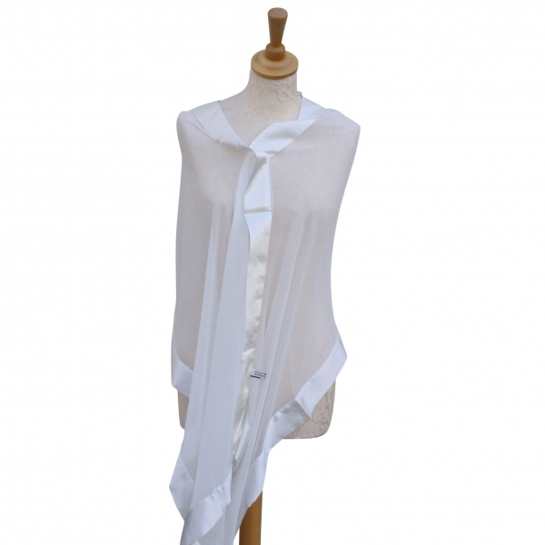 Ivory silk scarf