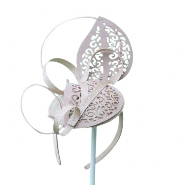 Lacey Nude Fascinator.