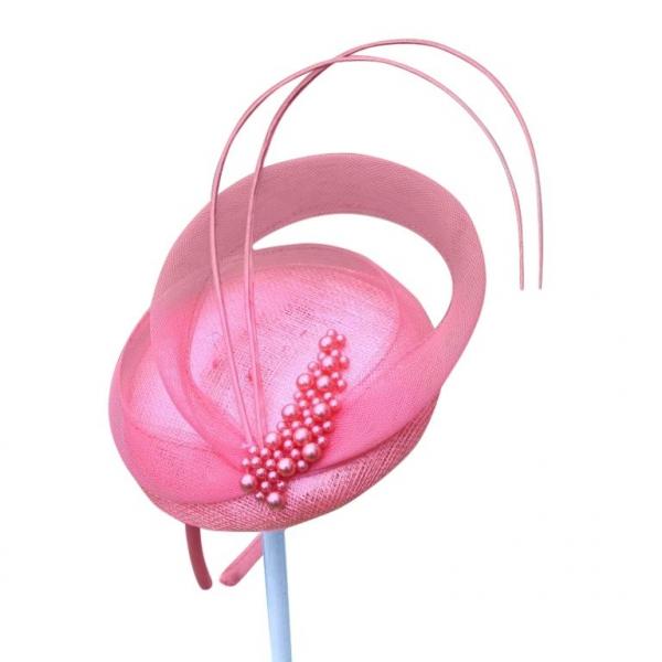 Linda Pink Fascinator