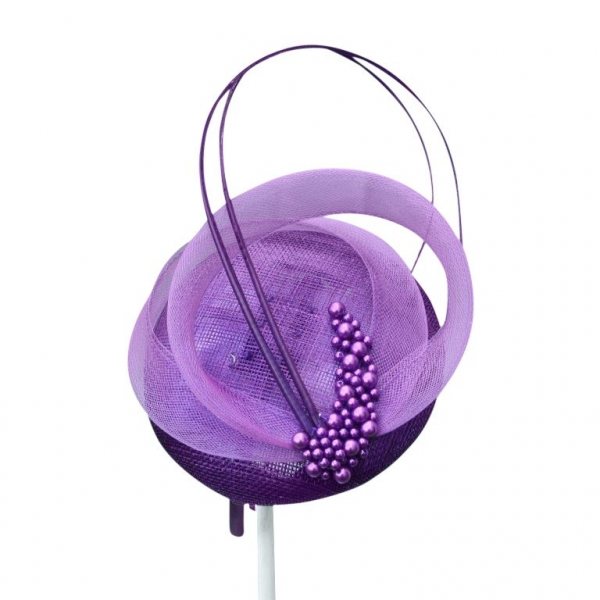 Linda Purple Fascinator