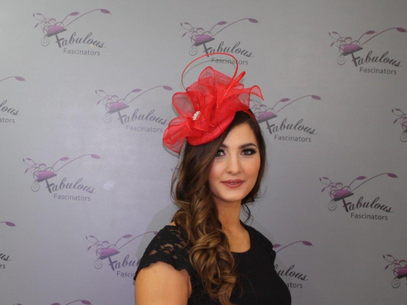 Lisa Red Fascinator
