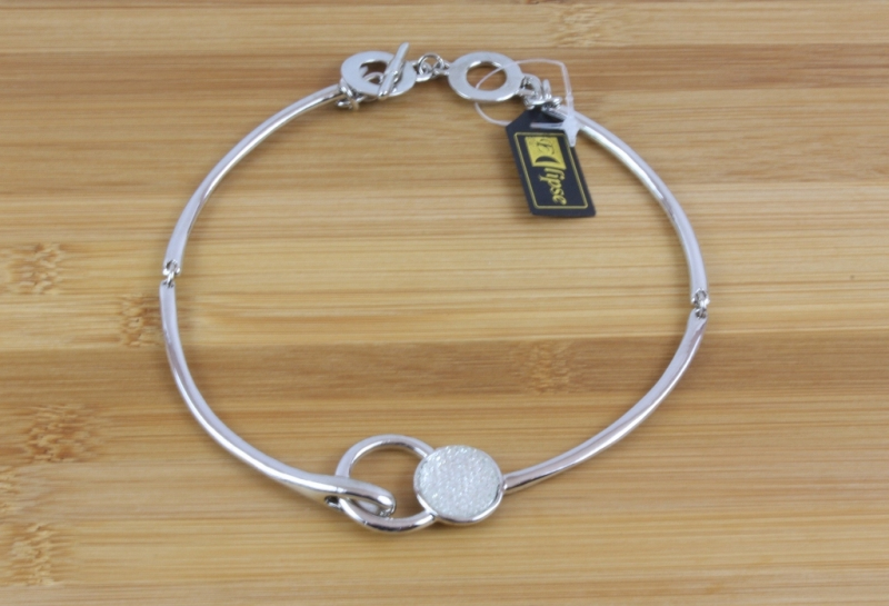 N10 Silver & crystal necklace