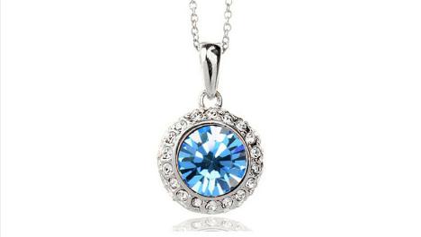 N248bl Blue crystal pendant