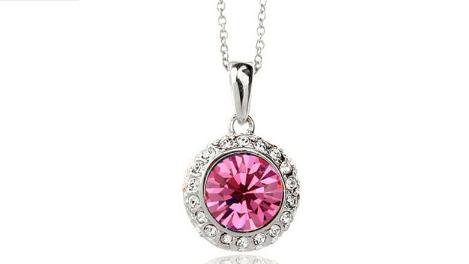 N248spk Pink crystal pendant