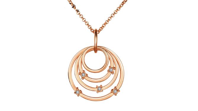 N409  Rose Gold Circle pendant