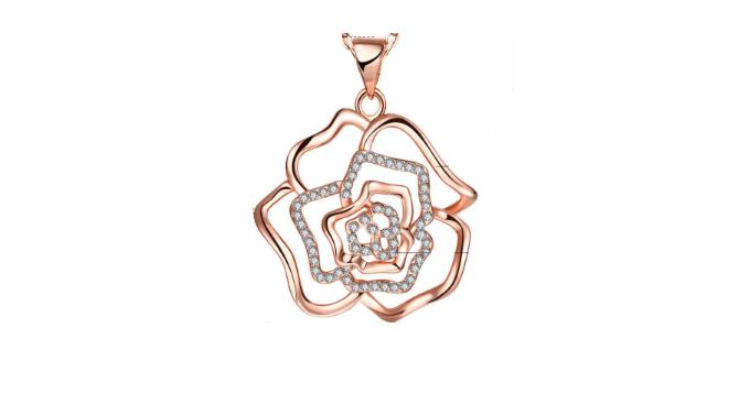 N414 Rose gold pendant