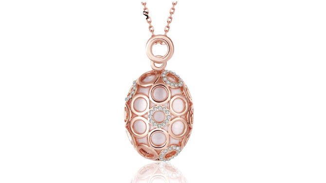 N416 Rose gold pendant