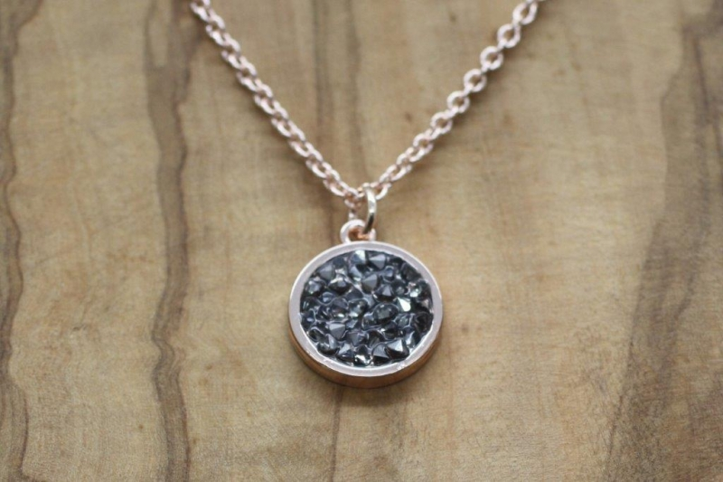 N310 Grey crystal pendant