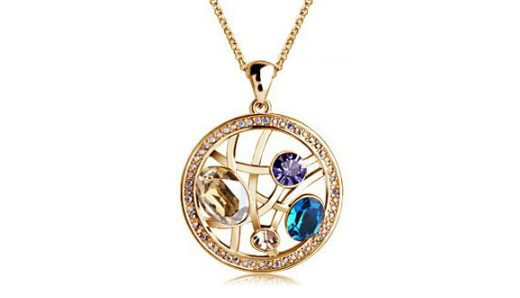 Ne266gbL   Rose gold Pendant