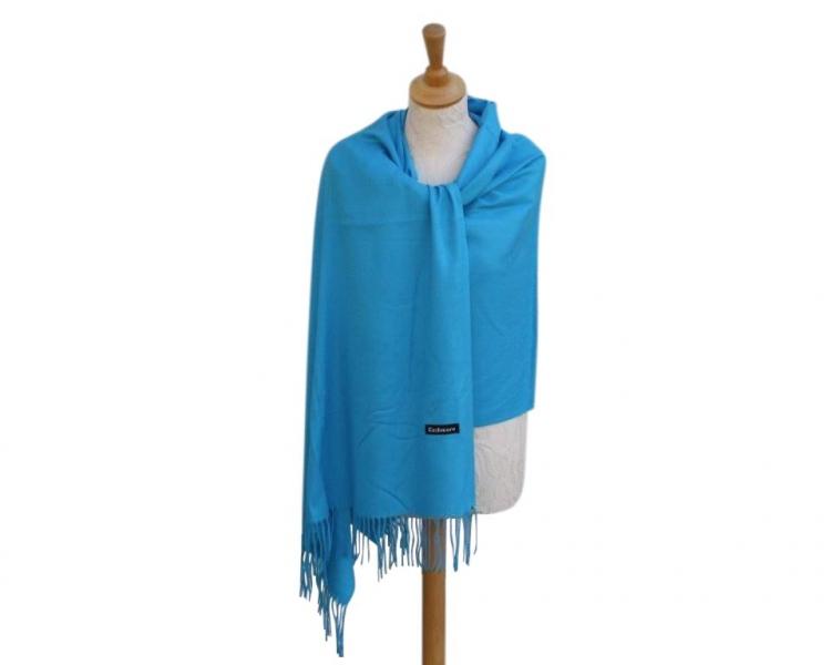 Pashmina Scarf Sky Wool/cashmere