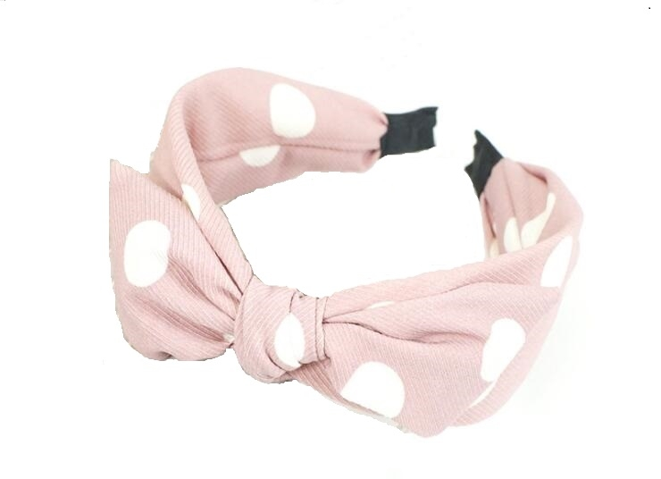 Polka Dot Hair Band Pink