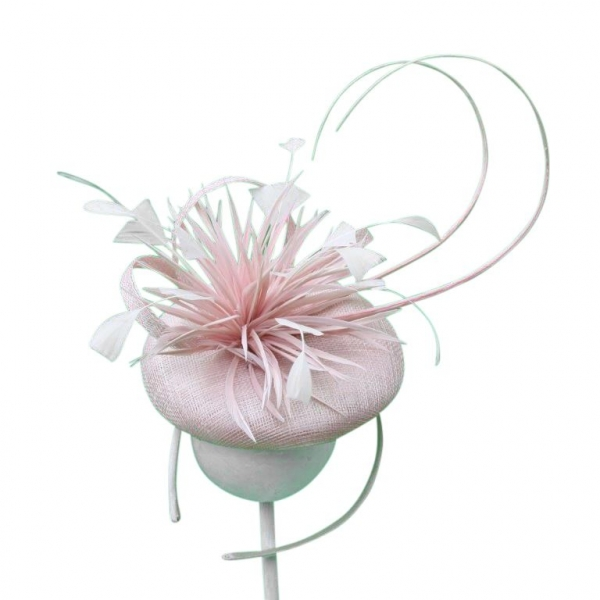 Riley Baby Pink Fascinator