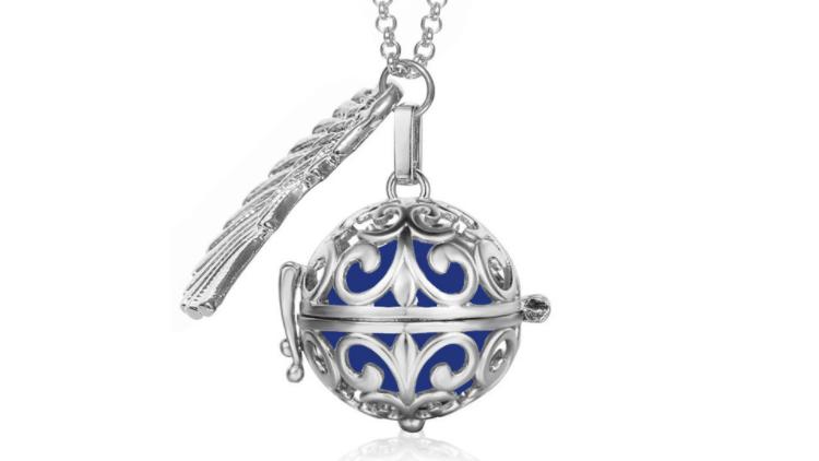 Bola  necklace silver/navy