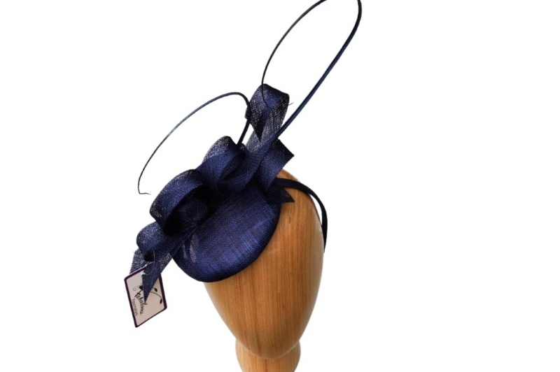 Sara Navy Fascinator