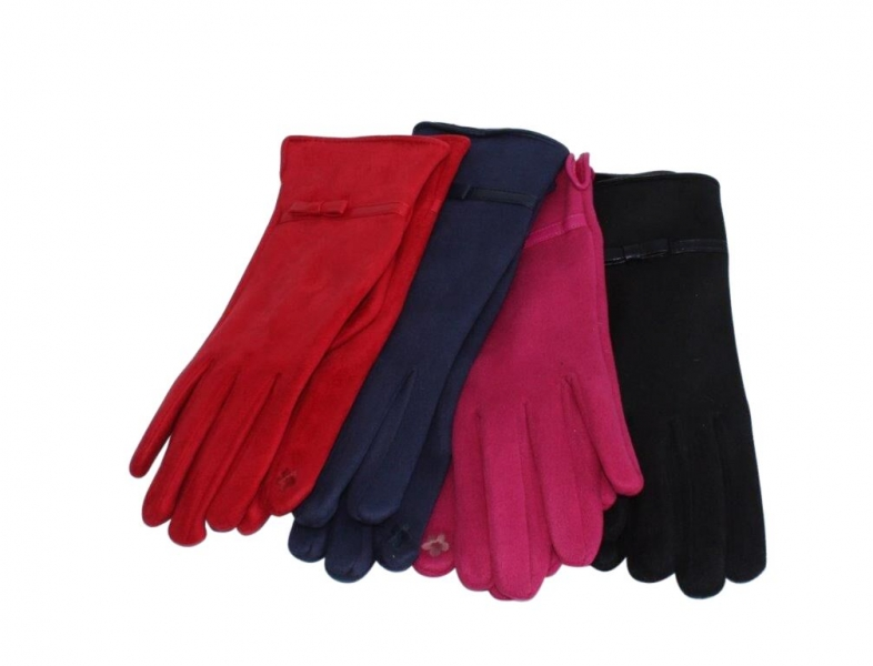 SG-1 Faux Suede Gloves Asstd 12pk