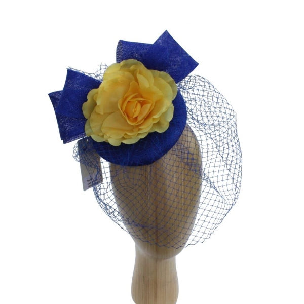 Taylor Cobalt/yellow Fascinator