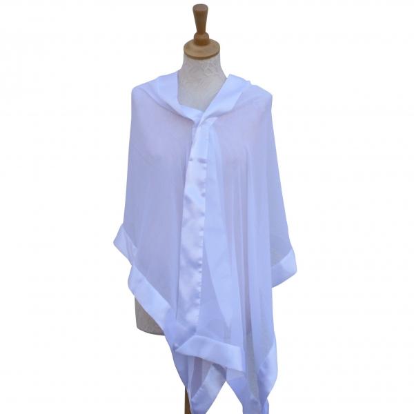 White silk wrap