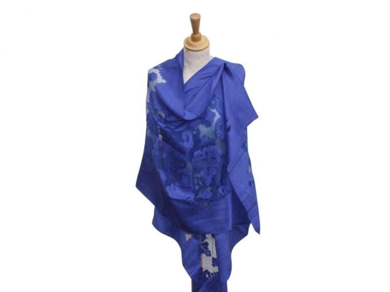 Viscose,cotton & silk wrap Royal