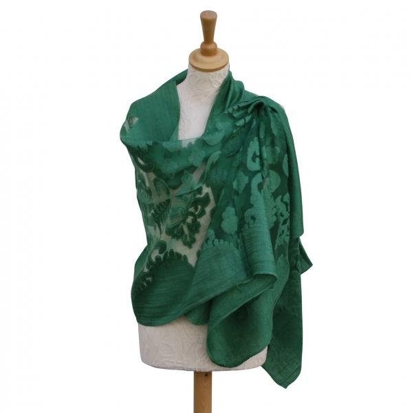 Viscose,cotton & silk wrap Green